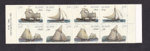 Aland islands   #109-112a   MNH  1995 booklet  cargo vessels
