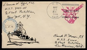 US 1944 Japanese Head Handstamp on cover - to CA