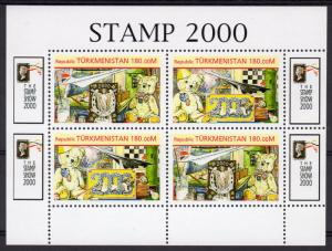 Turkmenistan 1999 Concorde/Teddy Bear/The Stamp Show 2000 London Shlt (4) MNH