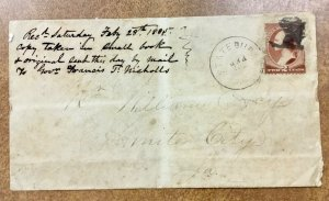 1885 Statesburg SC cover France cancel possibly  Hat, Face, Ship ?