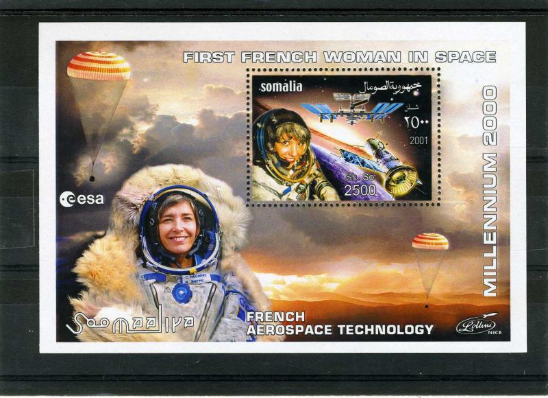 Somalia 2001 French Aerospace Technology s/s Perforated mnh