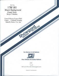 Showgard Stamp Mount 178/181 BLACK Background Pack of 3