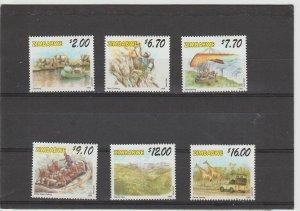 Zimbabwe  Scott#  824-829  MH  (1999 Tourist Activities)