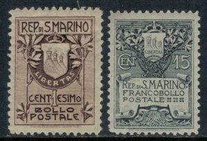 San Marino #78-9*  CV $45.50