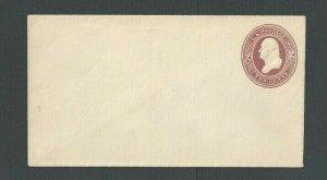 Ca 1866 U277 2c Brown On White Mint Entire Size 3 Die 81