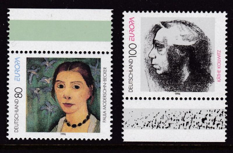 Germany 1996 Europa Issue (2) ART Famous Women Portraits VF/NH