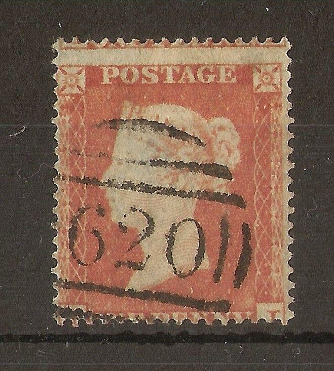 GB 1854 1d Red SG17/18 Fine Used