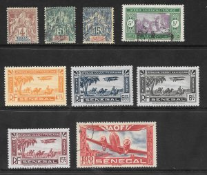 SENEGAL Lot of 9 Different Mint & Used Stamps 2017 CV = $17.45
