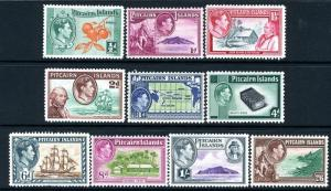 PITCAIRN ISLANDS-1940-51 Set to 2/6 Sg 1-8  MOUNTED MINT V13549