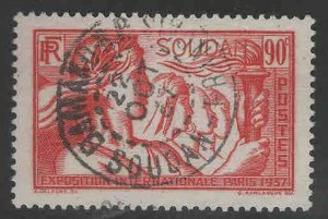French Sudan Scott 110 Used stamp from 1937 Intl Expo stamp