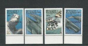 Tuvalu 1991 Endangered Species Overprinted Specimen UMM SG 605/608