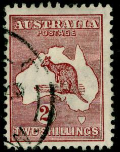 AUSTRALIA SG110, 2s maroon, FINE USED. Cat £16.
