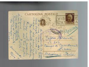 1942 Padova Italy to Lipari Concentration Camp postcard Cover Trifone Mircovich