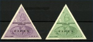 USA 1956 New York International Philatelic Exhibition Labels