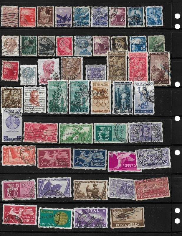 COLLECTION LOT OF 73 ITALY STAMPS CLEARANCE 7 SCAN