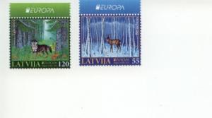 2011 Latvia Forests - Europa Set of 2 (Scott 779-80) MNH