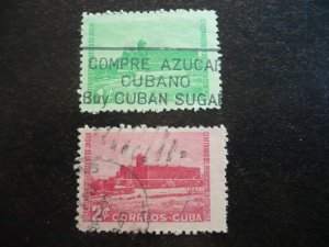 Stamps - Cuba - Scott# 433-434 - Used Set of 2 Stamps