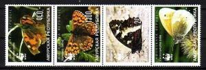 Amurskaya, 49-52 Russian Local. Butterflies issue.