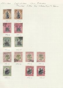 north borneo 1897 various perf  stamps ref  r8214