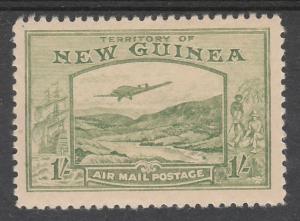 NEW GUINEA 1939 BULOLO AIRMAIL 1/-