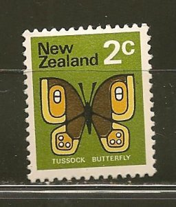 New Zealand 440 Tussock Butterfly Mint Hinged