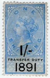 (I.B) QV Revenue : Transfer Duty 1/- (1891)