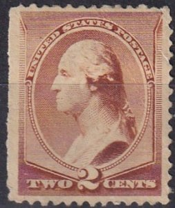 US #210 F-VF Unused Without Gum CV $17.00 (Z1506)