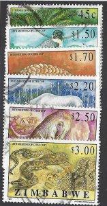 pb3360 Zimbabwe 774-79 used, cv $5.50 bin $2.50