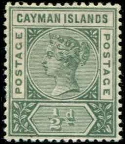 Cayman Islands SC# 1 SG# 1 Victoria 1/2d MH