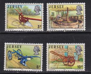 Jersey MNH 120-3 Farming Utensils 1975