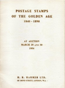 1954 Harmer Postage Stamps of the Golden Age Auction Catalogue