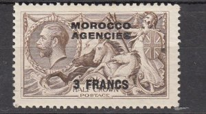 J26352  jlstamps 1924 great britain morocco mh #410 ovpt