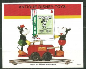 Sierra Leone MNH S/S 1842 Antique Disney Toys SCV 5.50