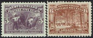 NEWFOUNDLAND 1897 400TH ANNIVERSARY 5C AND 6C