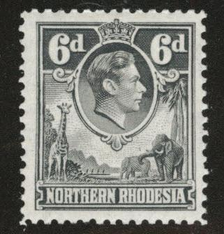 Northern Rhodesia Scott 38 MH* from KGV! 1938-52 set