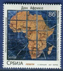 1623 - SERBIA 2021 - Africa Day - Map - MNH Set