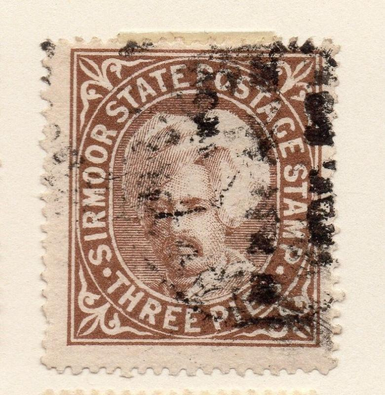 Indian States Sirmoor 1800s Early Issue Fine Used 3p. 084788