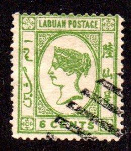 LABUAN 34 USED SCV $5.75 BIN $2.30 ROYALTY