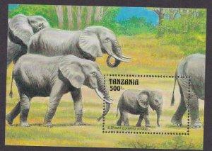 Turks & Caicos Islands # 1003, African Elephants, Souvenir Sheet,  NH, 1/2 Cat.