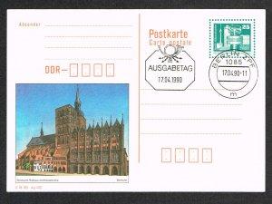 Germany DDR Postal Card FDC Michel P92
