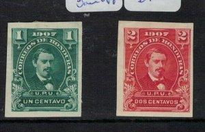 Honduras SC 119a, 120a Imperf Singles MOG (5ekr)