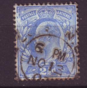 J19683 Jlstamps 1902-11 great britain used #131 king