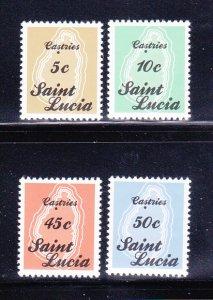 St Lucia 872-875 Set MNH Maps