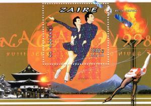 Zaire (Congo) 1996 Nagano Winter Olympics 2 SS MNH Mi 69/70A