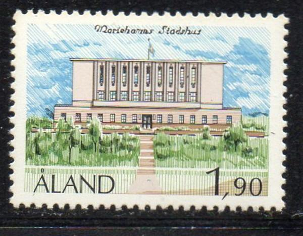 Aland Finland Sc 13 1989 1.9m Mariehamn Town Hall stamp mint NH