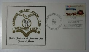 Mahoning Valley Stamp CLub 50yj Anniv Youngstown OH 1975 Philatelic Expo Cachet