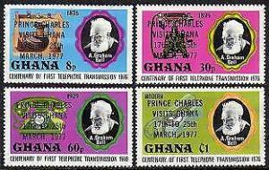 HERRICKSTAMP GHANA Sc.# 616-19 Prince Charles Visit