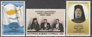 Cyprus #552-4  MNH F-VF (V1723)