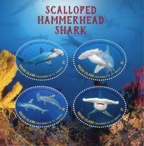 Union Island Gren St Vincent Stamps 2019 MNH Scalloped Hammerhead Sharks 4v M/S