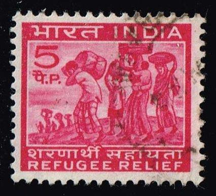 India #RA3 Refugee Relief - Postal Tax; Used (0.25)
